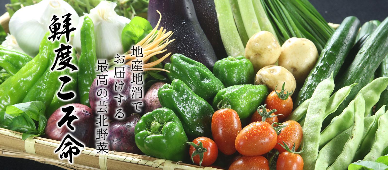 地産地消の芸北野菜